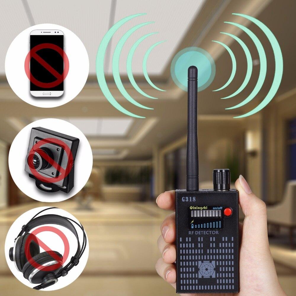 Hot Pro RF Spy Bug Detectors Full Frequency Scanner Sweeper GSM CDMA GPS Tracker Detectors Signal Finder 1 pcs full range multi function detectable rf lens detector wireless camera gps spy bug rf signal gsm device finder