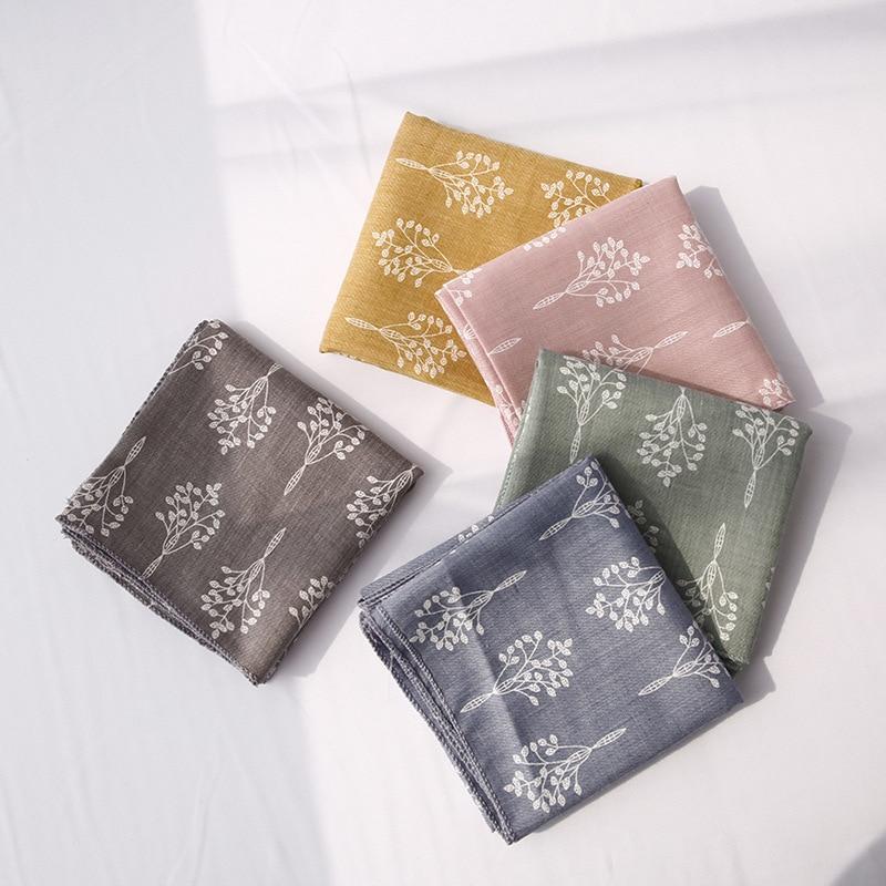 Yishine 42x42 Cm 5 Farben Kinder Kinder Bäume Pinafore Gereinigt Baumwolle Dreieckige Stirnband Frauen Mädchen Schal Schal Hand Handtuch Kunden Zuerst