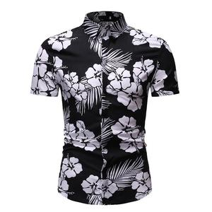 Hawaiian Shirt Men's Clothing Fashion Summer Dress Floral Shirt for Men Short sleeve Slim Blouse Men Summer New