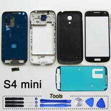 Original Full Phone Housing Frame Bezel Back Cover Case Touch Screen For Samsung Galaxy S4 Mini i9190 i9192 i9195 Repair Parts