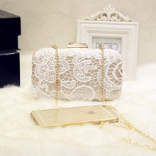 New arrival sweet wedding Evening Bag ladies Lace Clutch evening bags Bridesmaid party bag handbags purse