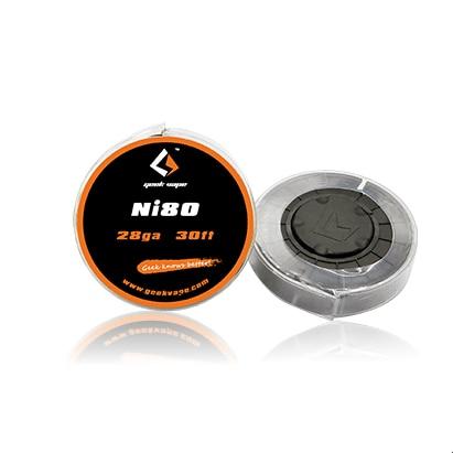 Original Geekvape Pure Nickel Ni80 Wire 24ga/26ga/28ga 30ft For Electronic Cigarette Coils Vape DIY