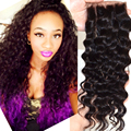 brazilain deep wave closure 4*4 virgin human hair lace top closure natural black free middle 3 part closures with baby hair