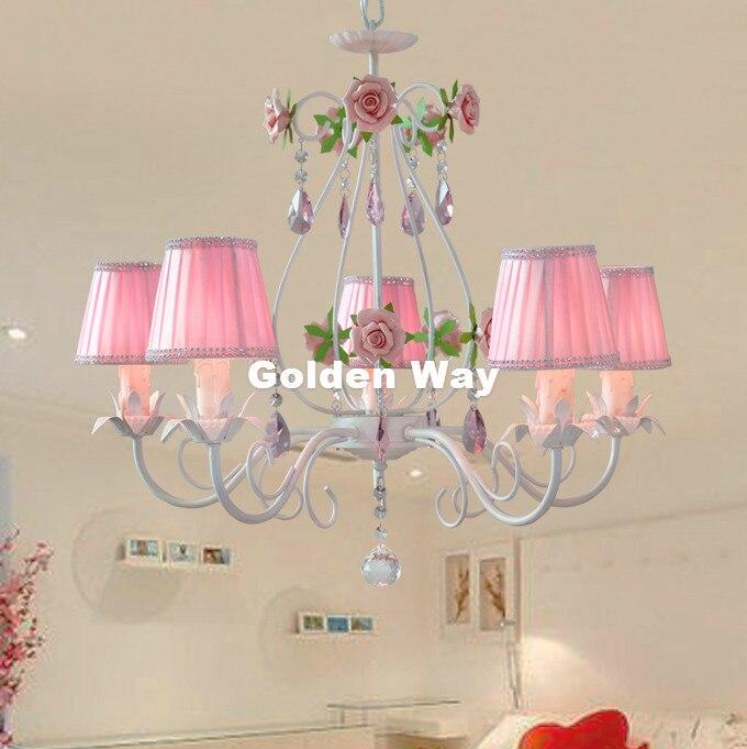 Современный белый розовый Стиль люстра роскошь свет декоративный подвесной светильник Indoor Утюг Хрустальная люстра Обеденная освещения
