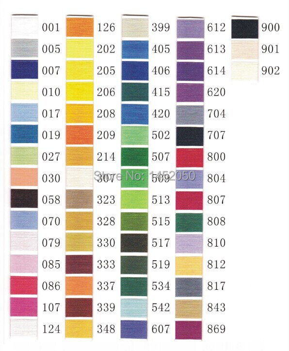 1000m Polyester Embroidery Machine Thread 63 Brother Colorskit For