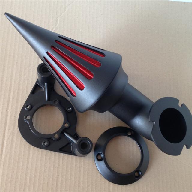 Aftermarket Acessórios Da Motocicleta de Spike Air Filter Cleaner Intake para 2010 modelos Touring Harley Dyna PRETO