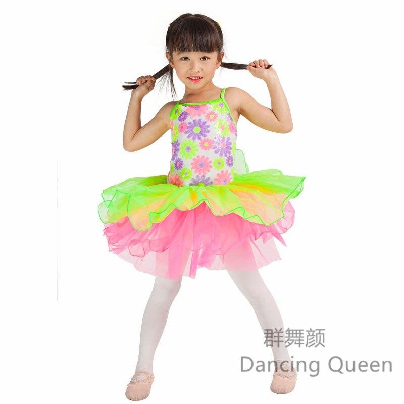 Colorful Dance Costumes Ballet tutu Children Stage performance dance costumes for ballerina Kids Jazz Dance Costumes Kids 15016