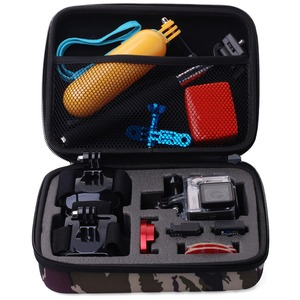 Image 2 - ORBMART Camo Storage Sport Camera Case Portable Collection Bag For GoPro HD Hero 4 3 2 Xiaomi Yi SJCAM SJ4000 SJ7000 Accessories