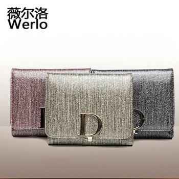 WERLO Brand Design High Quality Luxury Genuine Leather Wallet Female Fashion Dollar Price Long Women Wallets Coin Purses SJ054 wallet
