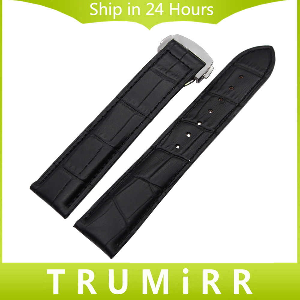 Croco Genuine Leather Watchband 22mm +Tool for Speedmaster Globemaster Replacement Watch Band Butterfly Buckle Wrist Strap Black croco pattern genuine casfskin 19mm 20mm 22mm replacement watchband watch straps for brand watch