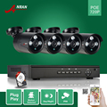$ Number CANALES POE NVR 720 P NVR Red HD Ir Al Aire Libre a prueba de agua POE Cámara IP de Vigilancia de Seguridad Del Sistema 1 TB HDD 4x15 M Cables