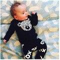 Conjunto de roupas de bebê urso camisola + calças Infantil bebe conjuntos de roupa do menino da menina da criança pano unisex tshirts + calças infantil 4 m-24 m