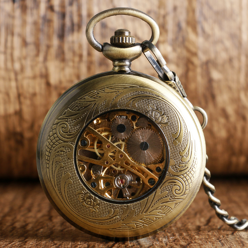 Uhren Neue Art Und Weise Royal Lion Abzeichen Quarz Taschenuhr Analog Vintage Anhänger Halskette Herren Frauen Bronze Kette Geschenk Hochglanzpoliert