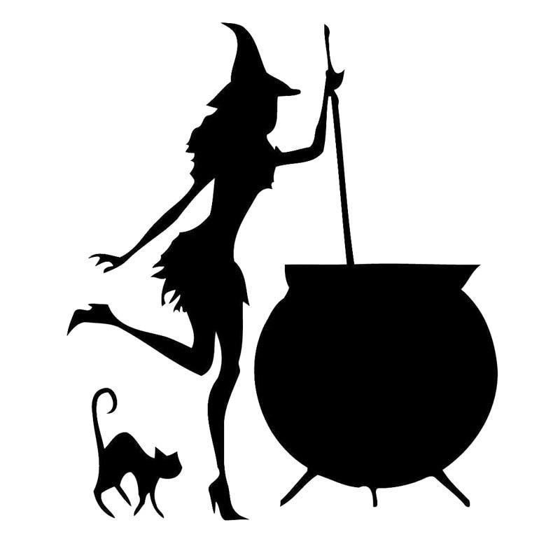 13.7cm*15.8cm Witch Cauldron Potion Decor Stickers Vinyl ...