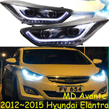 HID,2012~2015,Car Styling,Elantra Headlight,Solaris,accent,Elantra,Genesis,i10,i20,santa fe,lantra;Elantra head lamp