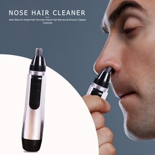 Portable Electric Nose Hair Trimmer Nasal Hair Removal Shaver Clipper Cleaner Ear Hair Removal Face Care Tool for Men 2 in 1 multi function epilator ear nose trimmer men s shaver hair removal tools safe lasting face care kit hair removal machine