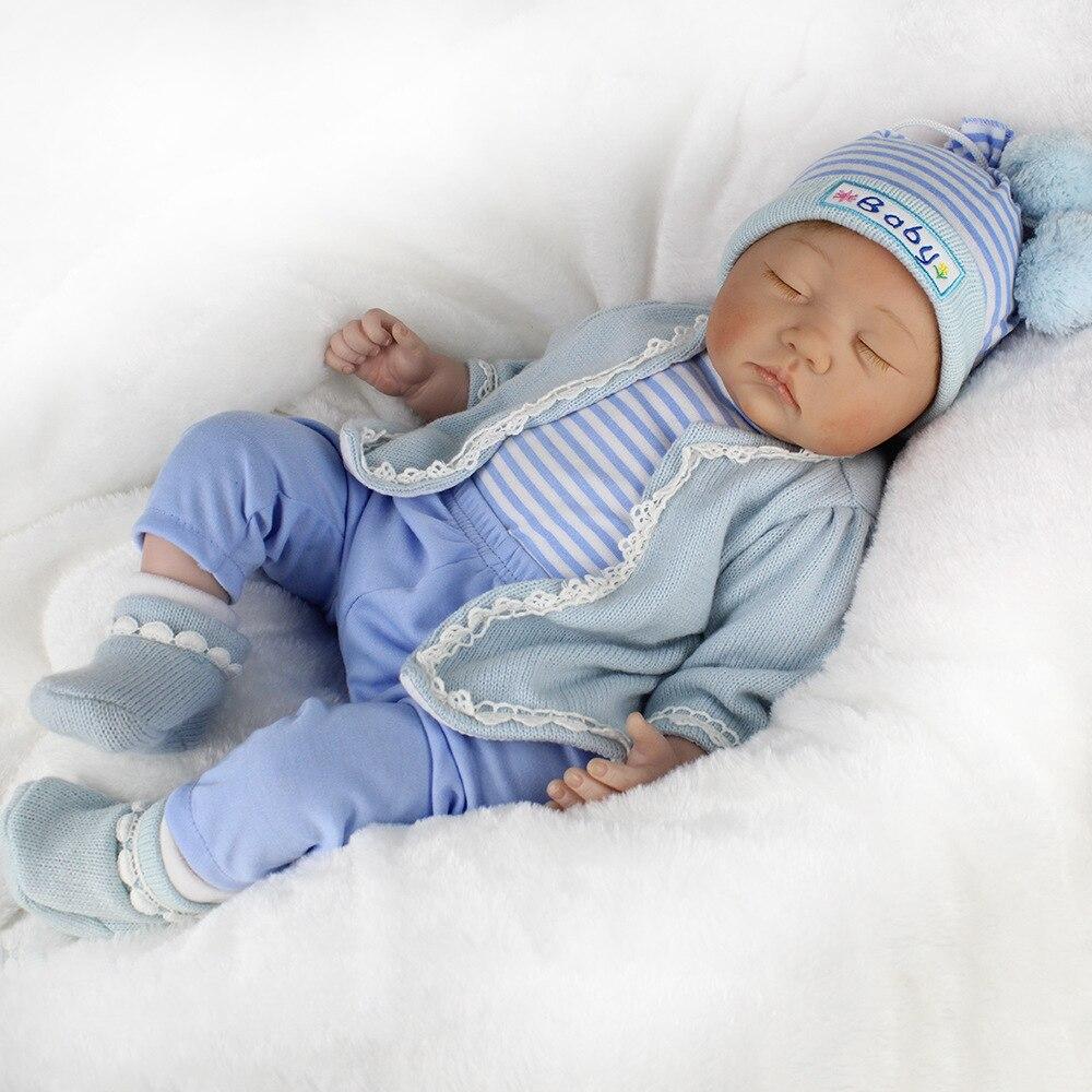 Kawaii Детские жив 55 см мягкие силиконовые Кукла реборн Игрушечные лошадки 22 дюймов Bebe Reborn Игрушечные лошадки реалистичные новорожденных Juguetes... ...