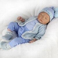 Kawaii Baby Dolls 55cm Soft Silicone Reborn Doll Toys 22inch BeBe Reborn Toys Lifelike Newborn Juguetes Babies Toys Brinquedos