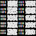 OPHIR Nail Tools Set8 200 Airbrush Nail Art Stencil Design 20 Template Sheets Kit Brush Paint Stickers _JFH8