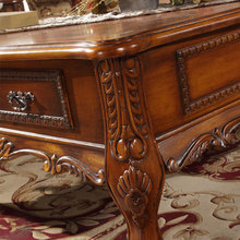 European high grade coffee table carved wood sofa supporting a new American Specials teasideend