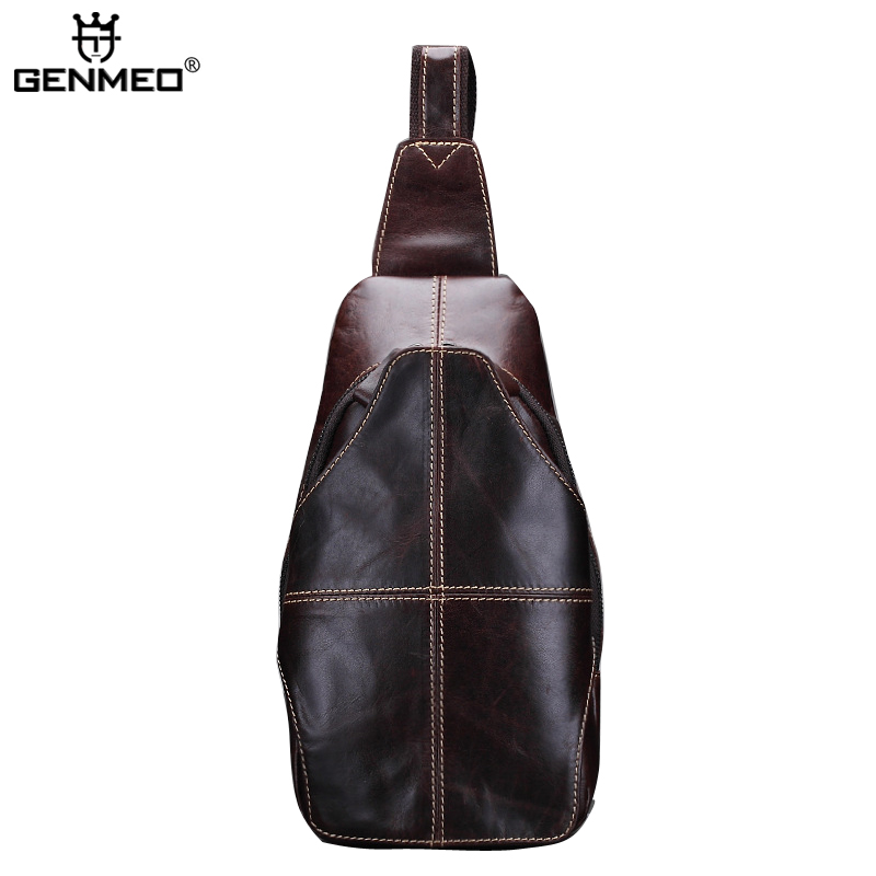 New Arrival Genuine Leather Body-Cross Single Shoulder Bag Cow Leather Brown Color Messenger Bag Retro Real Leather Bags aetoo the new oil wax cow leather bags real leather bag fashion in europe and america big capacity of the bag