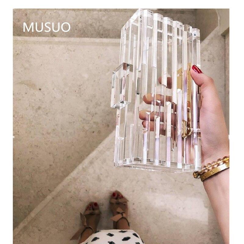 Sac Transparent été clair pvc plastique acrylique sac rétro vintage soirée soirée pochette 2019 arabie saoudite ins fashion