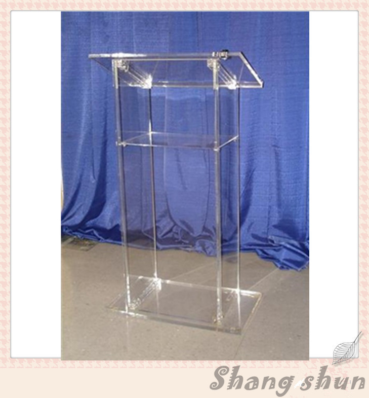 High Quality Church Pulpit, Manufacturer Church Podium Modern Clear Acrylic Church Lectern