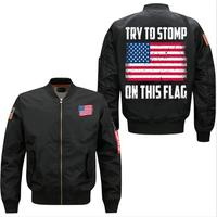 2017 Try To Stomp On This Flag Spring Autumn Men S Leisure Jacket Collar Code Air