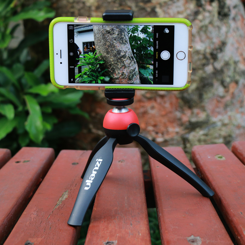 Ulanzi Mobile Phone Tripod with Holder Mount Camera Protable Mini Tripod Stand for iPhone Sony Samsung