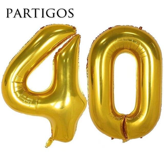 ballonnen 40 jaar 40 jaar oude verjaardag ballonnen 40 ''helium zwart goud aantal  ballonnen 40 jaar