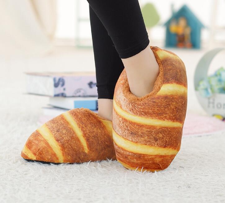 Sunny Everest Hamburger Slipper Winter Warm Shoes Lovely Family Party Shoes Kinds Of Bread 36-40