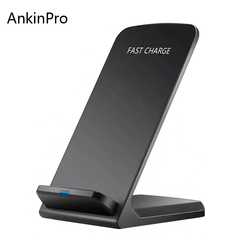 AnkinPro QI Wireless Charger Quick Charge 2.0 Fast Charging for iPhone 8 10 X Samsung S6 S7 S8 2-Coils Stand 5V/2A & 9V/1.67A