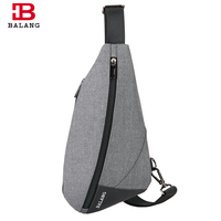 BALANG Fashion Chest Pack Bags Crossbody Casual Sling Bag Lightweight Shoulder Messenger Bags for Men Unisex Waterproof Oxford