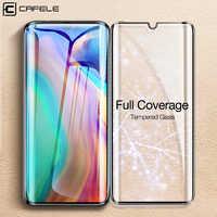 Cafele couverture complète en verre trempé pour Huawei P30 Pro HD protecteur d'écran clair pour P30 Pro Film de Protection pour Huawei P30