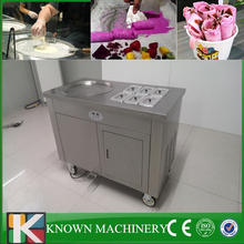 Customized 304 food grade stainless steel with 6 cooling food tanks fry ice cream machine thailand