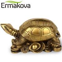 NEO 13CM 5 1 Antique Brass Mini Tortoise Figurine Retro Turtle Statue Feng Shui Animal Sculpture