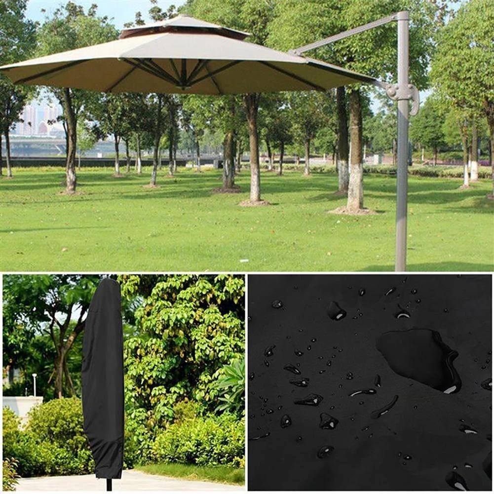 outdoor garden patio umbrella cover waterproof protective cover for outdoor garden banana cantilever parasol umbrella with zippe