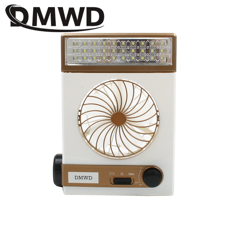 DMWD MINI Portable Camping Solar Energy LED Light air Fans Rechargeable Electric cooling Fan Emergency Outdoor Flashlight Cooler 4 in 1 portable exquisite usb mini solar blue fan solar fan super durable energy saving led flashlight lighting charging light