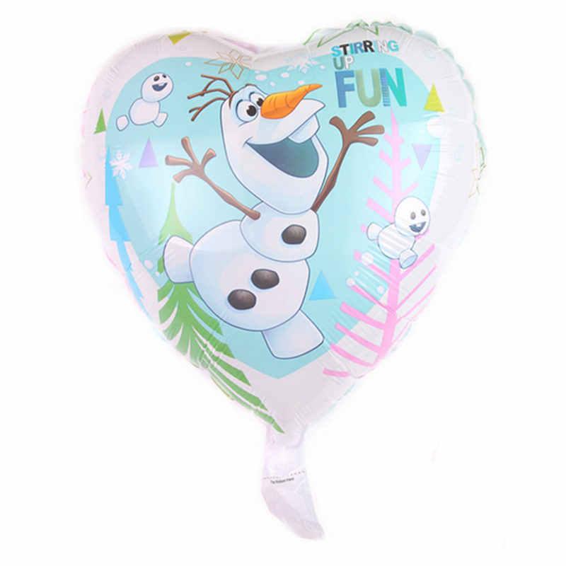 XXPWJ  New 18-inch heart-shaped princess aluminum balloon holiday party wedding decoration balloon wholesale  DD-050