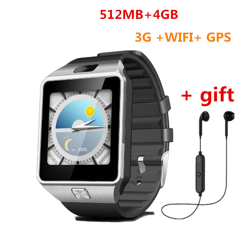QW09 Smart Watch Android 4.4 MTK6572 3G WIFI Dual Core 512MB RAM 4GB ROM Bluetooth Smartwatch For IOS Android PK GT08 U8 Clock 2016 bluetooth smart watch gt08 for