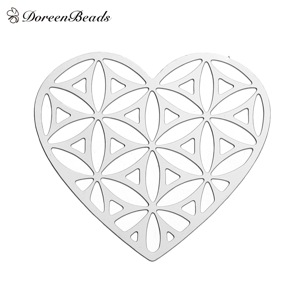 doreenbeads-304-stainless-steel-flower-of-life-embellishments-findings-heart-dull-silver-color-hollo
