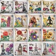 Hot sale cartoon  art vintage style butterfly clock women men Pillow case boys girls weeping pillow cover size 45*45cm