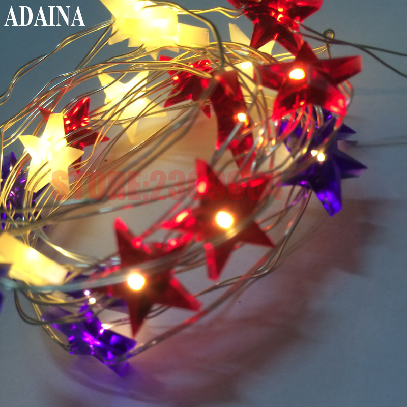 USA Style 2M 20 LEDS 3AA Battery Powered Skeleton LED Copper Wire Fairy String Lights Lamps Halloween Christmas Holiday Party