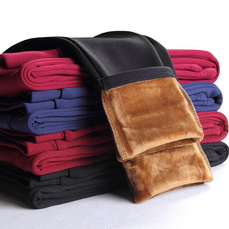 Winter Leggings Women Plus Thick Velvet Pencil Pants Elastic Waist Trousers Warm Leggings Outer Wear Leggins Plus Size 4XL C2571