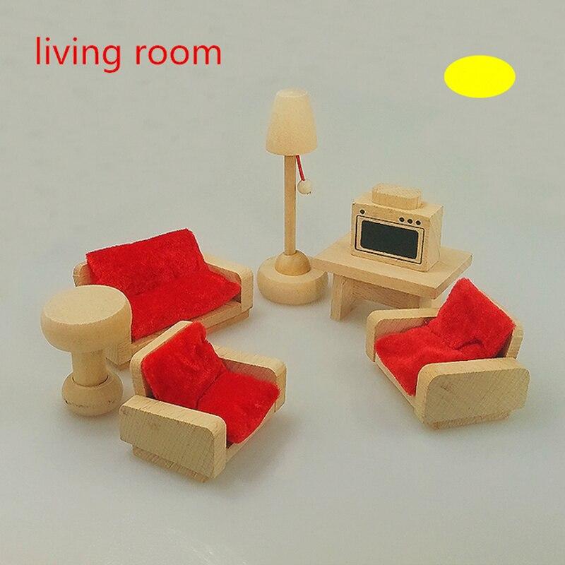 mueca de madera muebles de la sala de juegos para nios diseo de juguetes de madera casa de muecas en miniatura de juguete re