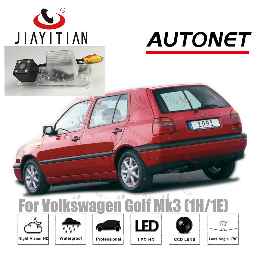 JiaYiTian Rear Camera For VW Golf Mk3 3D Hatch 5D Estate 2D 1991~2002 CCD Night Version Backup Camera License Plate Camera