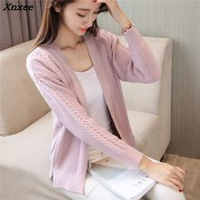Xnxee 2018 women fasion sweater soft coat Korean autumn Couture twist cardigan 45
