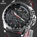 MEGIR Hot Famous Brand Men Watches Top Brand Luxury Business Quartz-watch Clock Leather Strap Male Wristwatch reloj hombre 2016