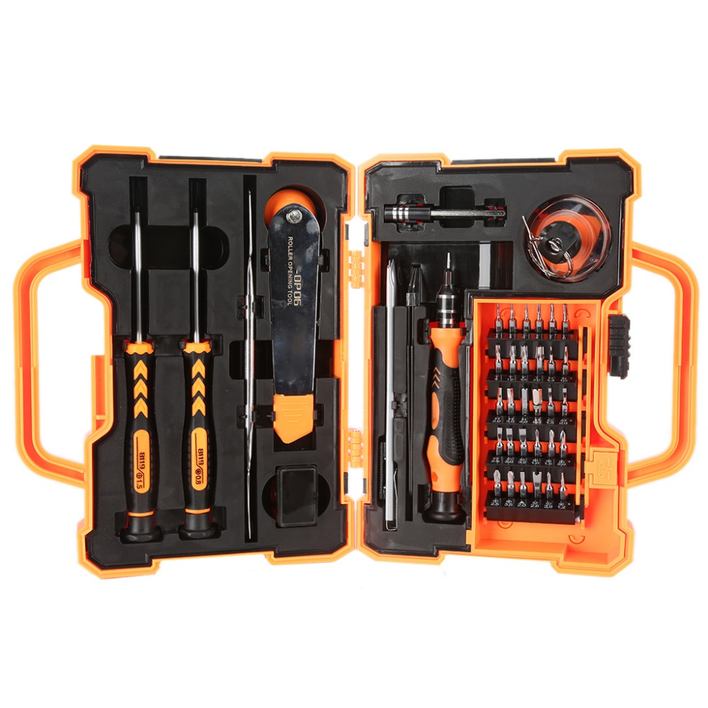 цена на 45 in 1 Professional Electronic Precision Screwdriver Set Hand Tool Box Set Opening Tools for iPhone PC Repair Tools
