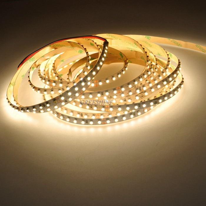 CRI>90 95 , 3528 LED Strip Lights Non Waterproof 12V 24V 600leds 5M Warm White Tape for Indoor LED Lighting 100M/lot Freeship